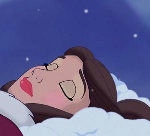 Belle's dreamy look