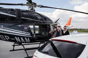 Benedict arriving in Poland