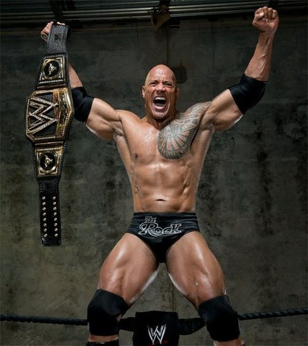 """Dwayne """"The Rock"""" Johnson wallpaper containing a hunk and a six pack entitled Best WWE Champ"""