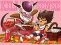 Bonding Through Food - dragon-ball-z fan art