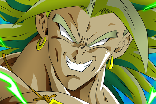 Dragon Ball Z wallpaper possibly containing Anime entitled Broly the true devil