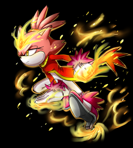Blaze the Cat wallpaper entitled Burning Blaze