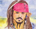 Captain Jack Sparrow painting