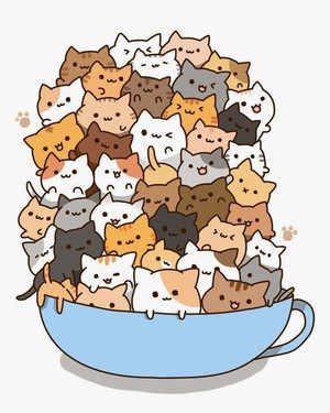 Cats in a thee cup