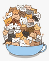 gatos in a chá cup