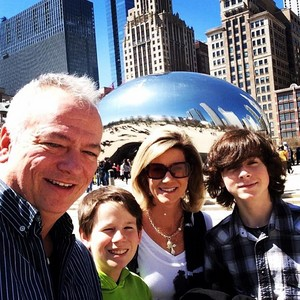 Chandler and his family at the Chicago Bean last weekend