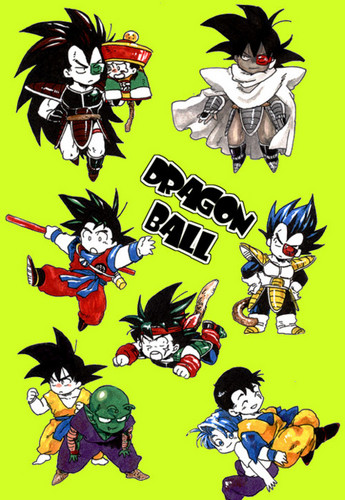 dragon ball z wallpaper probably with anime titled chibi Dragon Ball Z