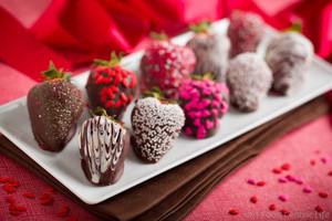 cokelat Covered Strawberries
