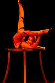Circus contortion performance