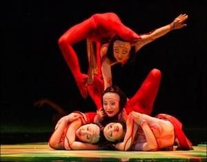 """Cirque du soleil """"O"""" contortion act"""