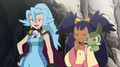 Clair,Iris and Axew - pokemon photo