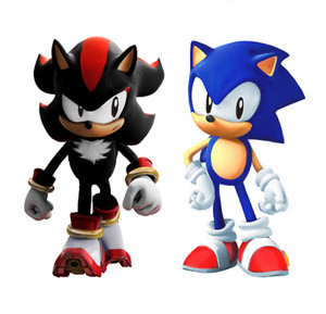 Classic Sonic And Classic Shadow.