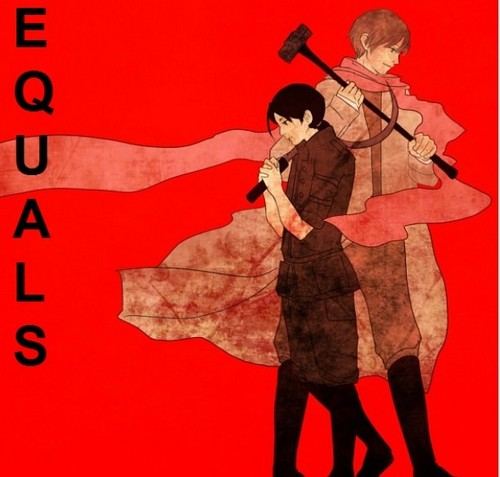 Hetalia Couples! wallpaper entitled Communist rochu