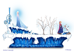 Concept art for Frozen pre-parade coming to Disneyland mid-June