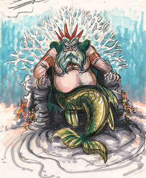 Concept art for King Triton