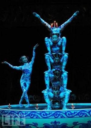 Group contortion aurobics act