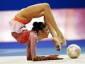 Contortionist with ball