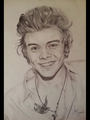 Copied Harry Styles Drawing