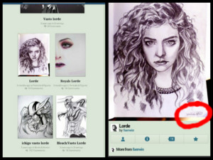 Copied Lorde Drawing