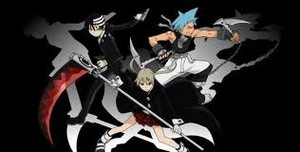 Death the kid, Black star, and Maka :D