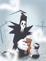 Death the kid and his dad :3 soo cute