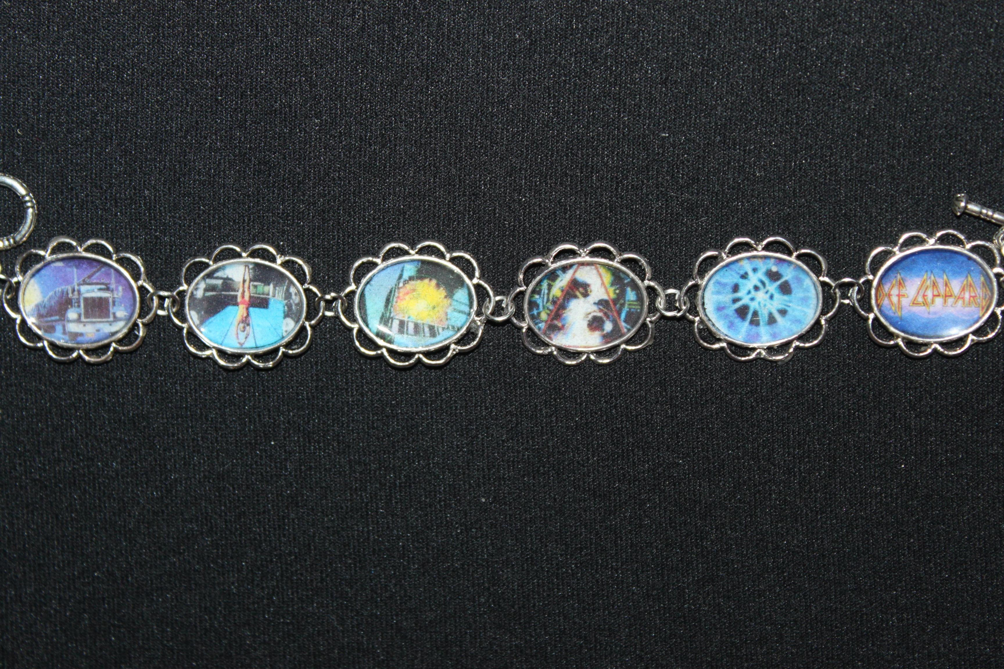 Def Leppard album cover art bracelet
