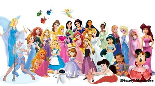 Disney wallpaper possibly containing Anime entitled Disney Female Lead Characters