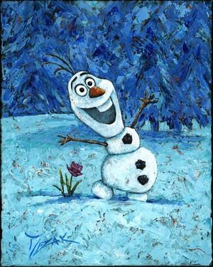 迪士尼 Fine Art - Olaf 由 Trevor Mezak