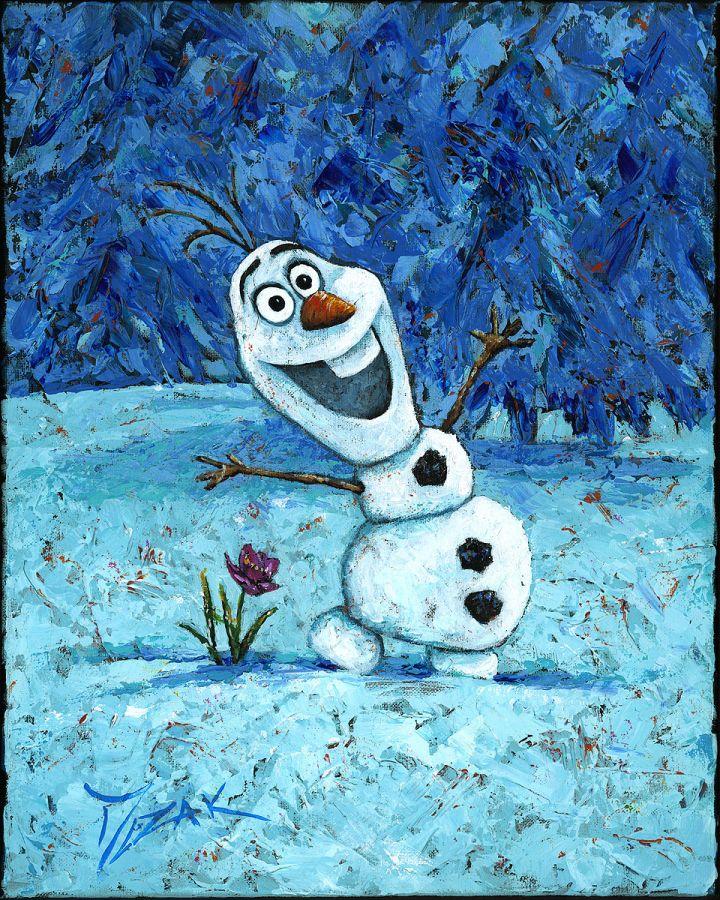 Disney Fine Art - Olaf by Trevor Mezak