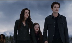 Edward and Bella and Renesmee