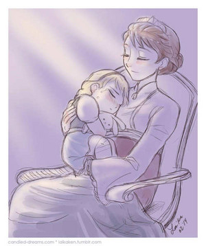 Elsa and her mother