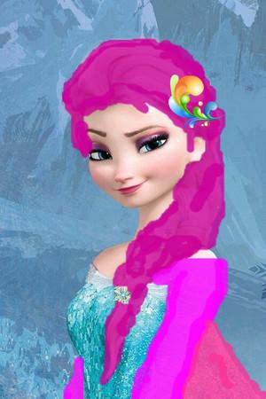 Elsa in rosa, -de-rosa