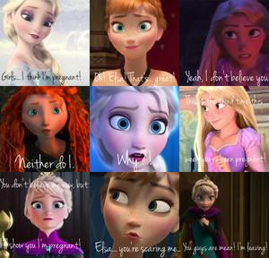 Elsa, 당신 aren't pregnant.