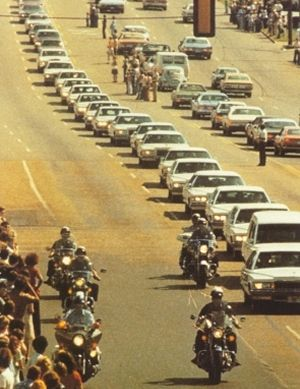 Elvis Presley's Funeral Back In 1977