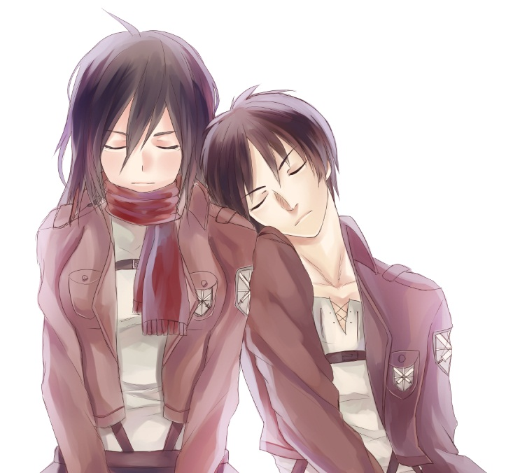 Attack on Titan Pairings images Eren and Mikasa HD fond d'écran and ...