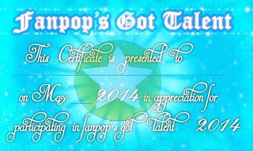 fanpop's got talent wallpaper called Fanpop's Got Talent 2014 Participant Certificate