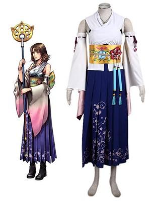 Final कल्पना Yuna cosplay costume