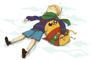 Finn and Jake, winter time