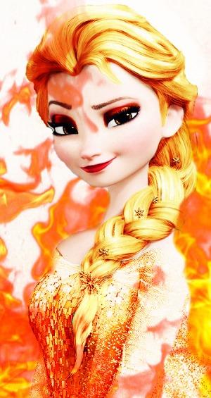 आग क्वीन Elsa