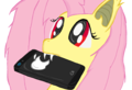 Flutter Bat and manzana, apple I-Phone My little poni, pony