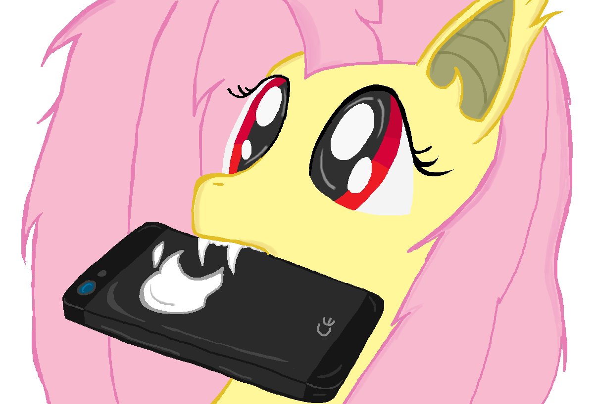 Flutter Bat and apfel, apple I-Phone My little pony
