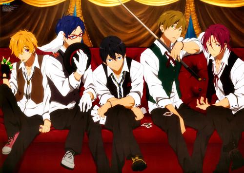 Anime wallpaper entitled Free! Iwatobi Swim Club