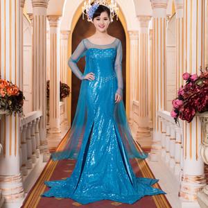 Frozen Elsa the snow queen cosplay costume