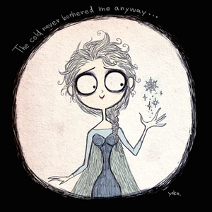 Frozen redesigned in Tim Burton-inspired style