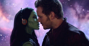 Gamora and Quill