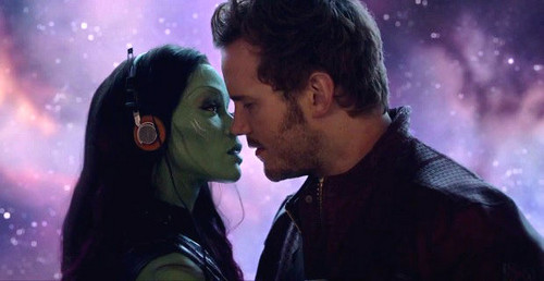 Guardians of the Galaxy 바탕화면 possibly containing a 음악회, 콘서트 titled Gamora and Quill