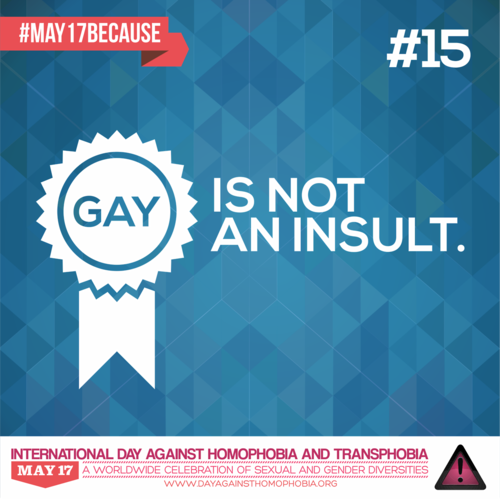 LGBT karatasi la kupamba ukuta entitled Gay is not an Insult