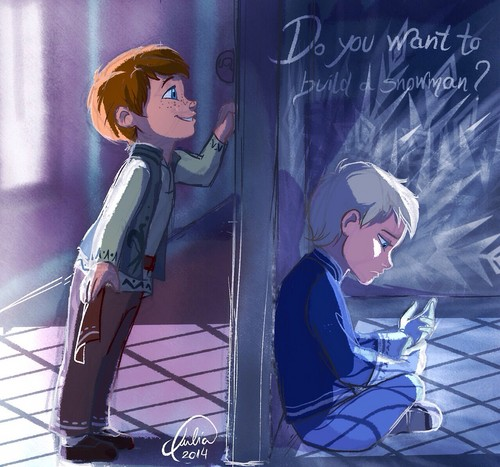 Frozen wallpaper possibly containing a sign and anime called Genderbent | Do You Want to Build a Snowman