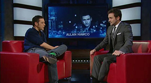 George with Allan Hawco