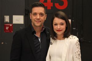 George with Tatiana Maslany